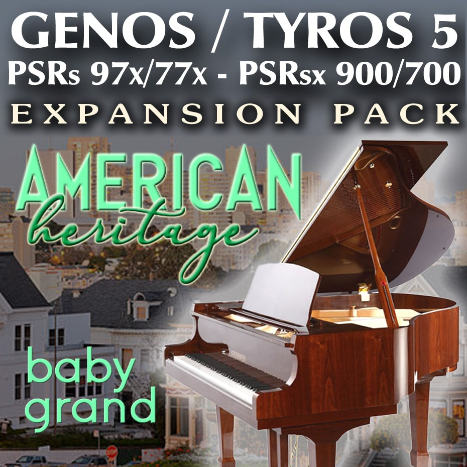 Tha American Heritage BABY GRAND PIANO Expansion Pack for Yamaha Arrangers