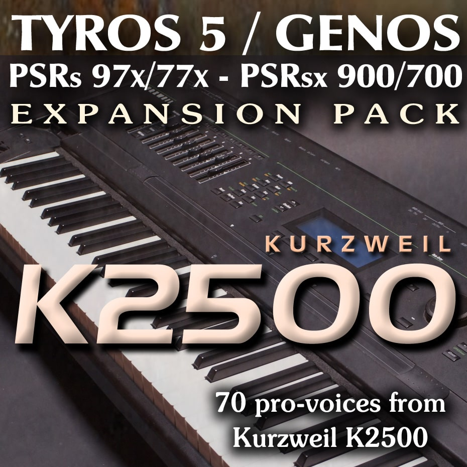 Expansion Pack for Yamaha Genos, Tyros 5, PSR with sounds from Kurtzweil K2500