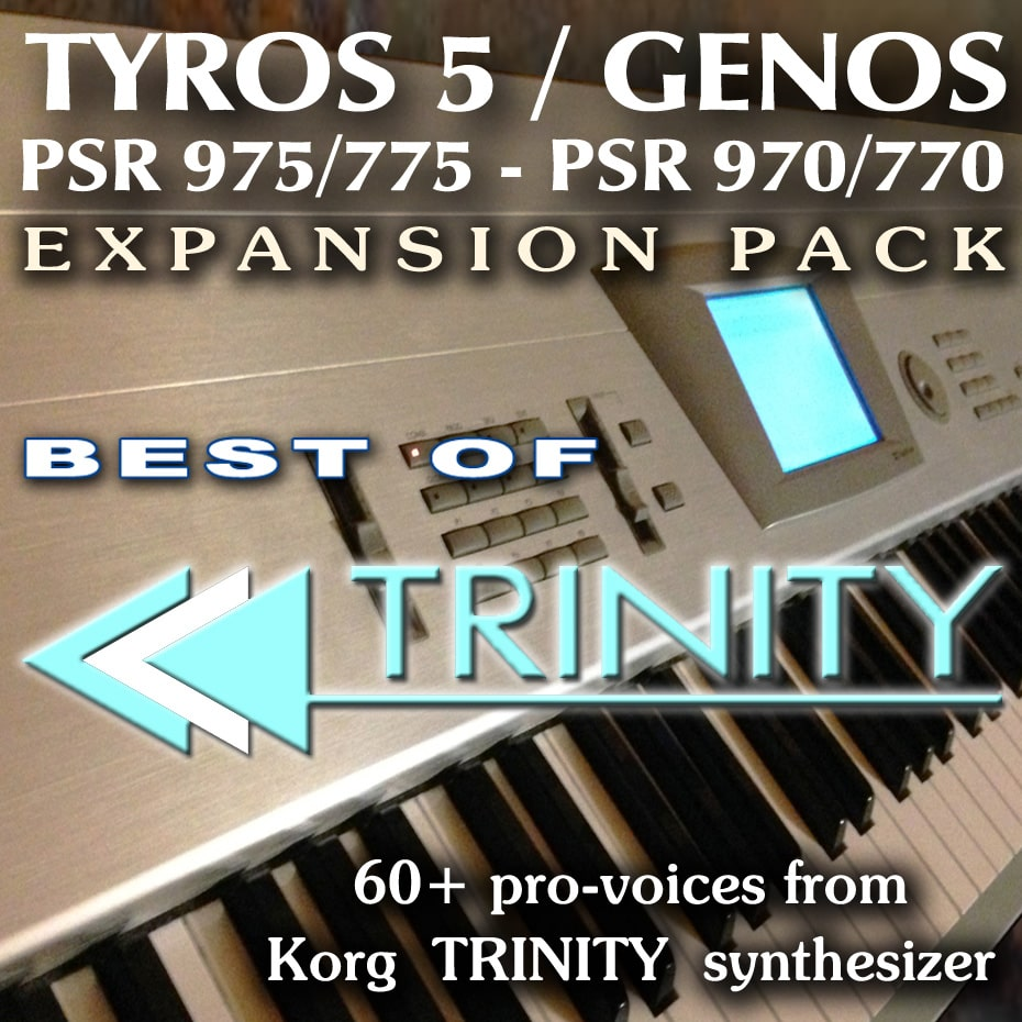 KORG TRINITY Expansion Pack for Yamaha Genos, Tyros, PSR
